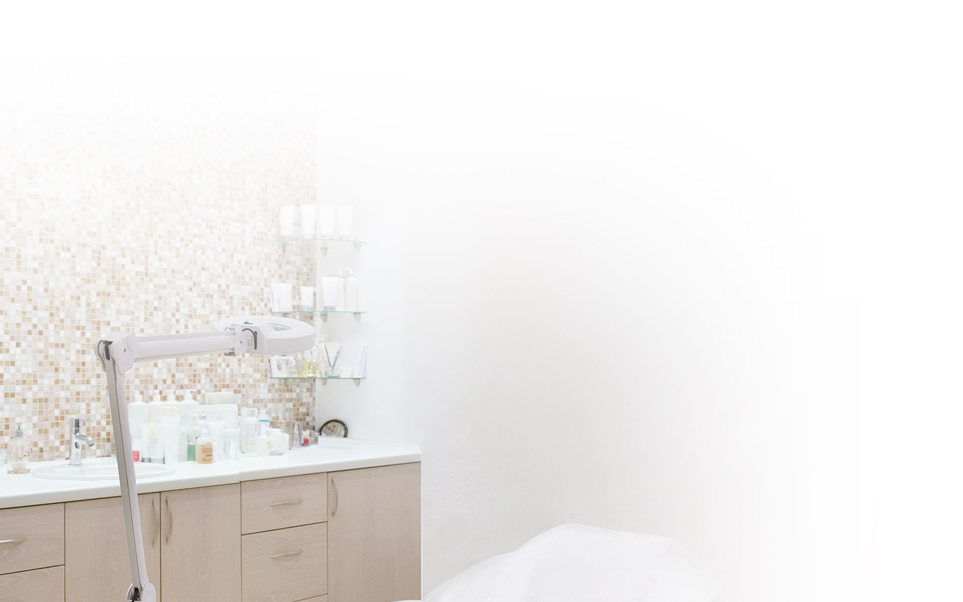 clean image of exam room for product example images